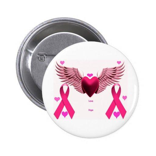 Corazones rosados de la cinta pin