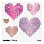 Corazones rosados de lujo del damasco fijados de e
