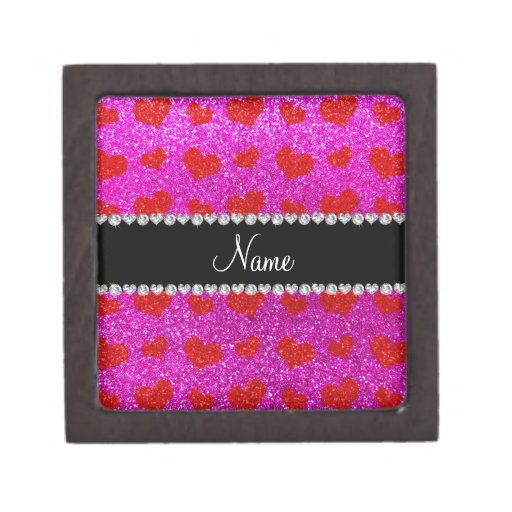 Corazones rosados de neón conocidos de encargo del cajas de regalo de calidad