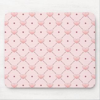 Corazones rosados del caramelo alfombrillas de ratones