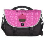 Corazones rosados del rosa de la magdalena del bri bolsas de ordenador