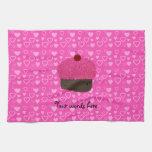 Corazones rosados del rosa de la magdalena del bri toallas de mano