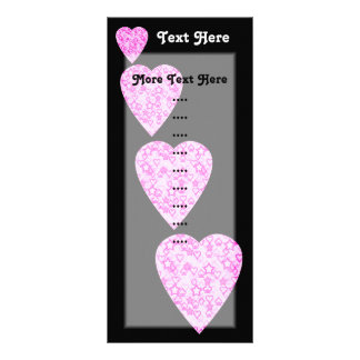 Corazones rosados. Diseño modelado del corazón Diseño De Tarjeta Publicitaria