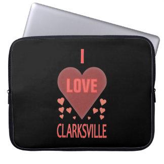 Corazones rosados femeninos de Clarksville Tenn de Funda Computadora