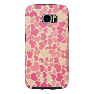 corazones rosados hermosos del amor fundas samsung galaxy s6