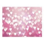 Corazones rosados lindos postal
