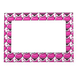 Corazones rosados foto de imanes