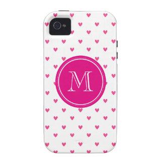 Corazones rosados mexicanos del brillo con el vibe iPhone 4 fundas