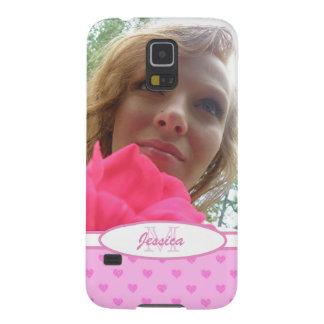 Corazones rosados: Monograma: Imagen Carcasas Para Galaxy S5