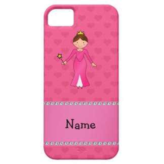 Corazones rosados personalizados de la princesa ro iPhone 5 Case-Mate cobertura