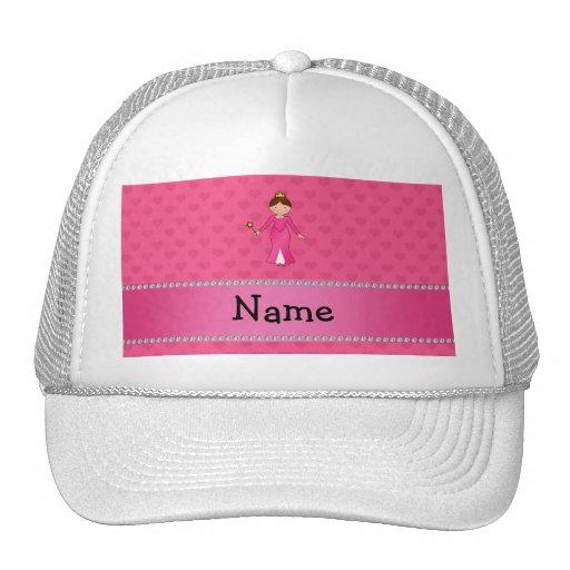 Corazones rosados personalizados de la princesa ro gorros