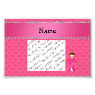 Corazones rosados personalizados de la princesa ro foto