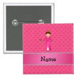 Corazones rosados personalizados de la princesa ro pin