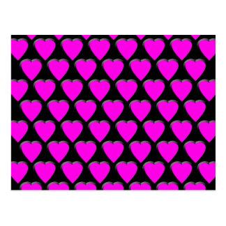Corazones rosados tarjetas postales