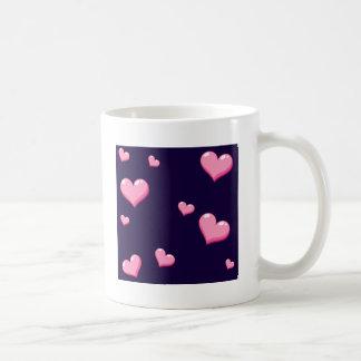 Corazones rosados taza