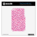 Corazones rosados y púrpuras de la tarjeta del día skins para iPod touch 4G