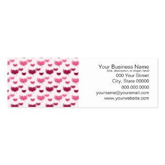 Corazones rosados y rojos del vuelo plantillas de tarjeta de negocio