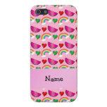 Corazones rosas claros conocidos de encargo de los iPhone 5 cobertura