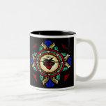 Corazones sagrados de la taza del vitral de Jesús