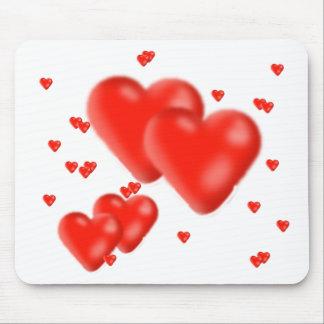 corazones tapetes de raton