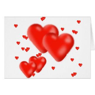 corazones tarjeta de felicitación