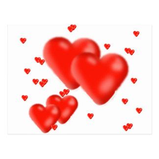 corazones postal