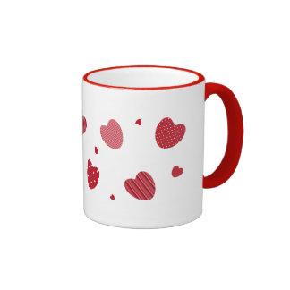 corazones taza de dos colores