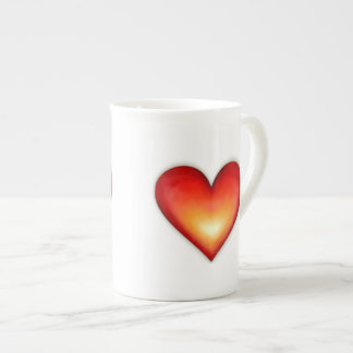 Corazones - té taza de porcelana