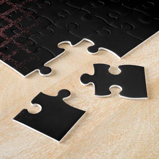 Corazones tejados del mosaico (rosa) puzzles con fotos