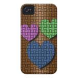 Corazones tejidos Case-Mate iPhone 4 carcasa