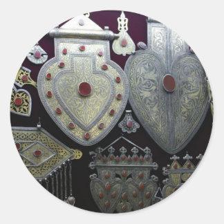 Corazones turcomanos etiqueta