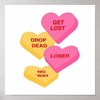 corazones vday antis del caramelo poster