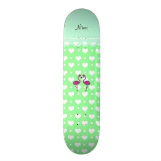 Corazones verdes claros conocidos de encargo del skate boards