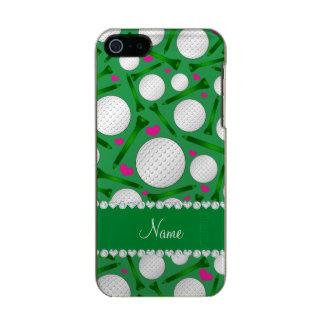 Corazones verdes conocidos personalizados de las carcasa de iphone 5 incipio feather shine