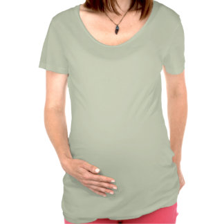 Corazones verdes de la tela escocesa camisetas premamá