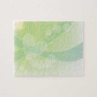Corazones verdes románticos puzzle