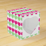Corazones verdes rosados del boda paquetes de regalo para bodas