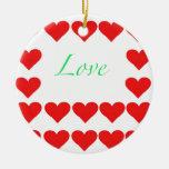 corazones y amor adornos