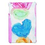 Corazones y amor con la raya iPad mini cárcasas