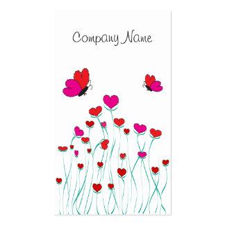 Corazones y amor de la tarjeta del día de San Tarjetas De Visita