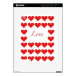 corazones y amor iPad 3 skin