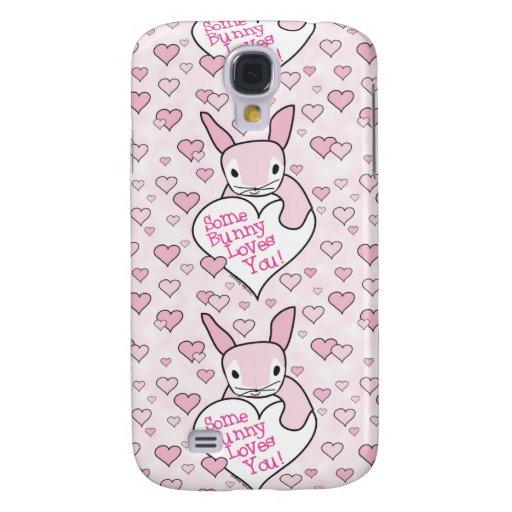 Corazones y amor rosados del conejito
