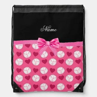 Corazones y arco rosados conocidos de encargo de l mochila