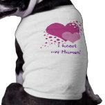 Corazones y burbujas camiseta sin mangas para perro