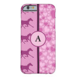 corazones y caballos funda para iPhone 6 barely there