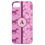 corazones y caballos iPhone 5 Case-Mate cárcasa