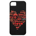 Corazones y caja negros del iphone 5 del amor iPhone 5 coberturas