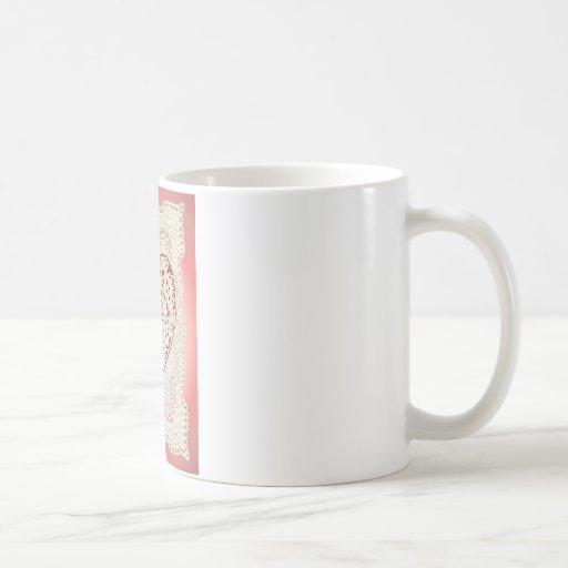 CORAZONES y CORDÓN del CUPID de SHARON SHARPE Tazas De Café