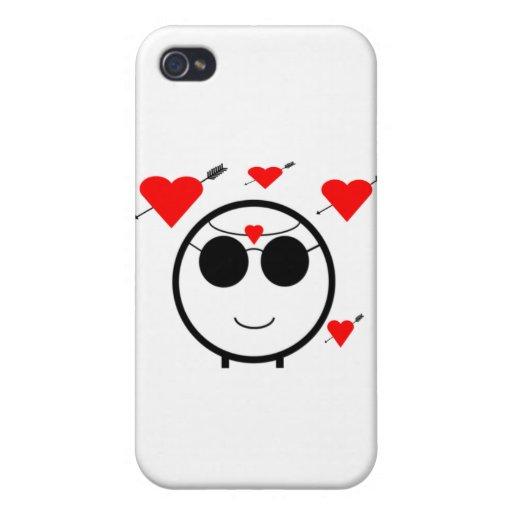 Corazones y Cupid iPhone 4 Protector