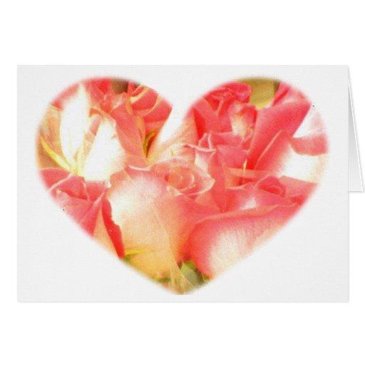 Corazones y flores 9 tarjeton